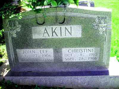 AKIN, JOHN LEE - Adair County, Kentucky   JOHN LEE AKIN - Kentucky Gravestone Photos