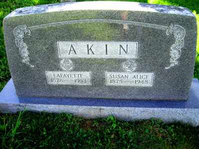 AKIN, SUSAN ALICE - Adair County, Kentucky | SUSAN ALICE AKIN - Kentucky Gravestone Photos