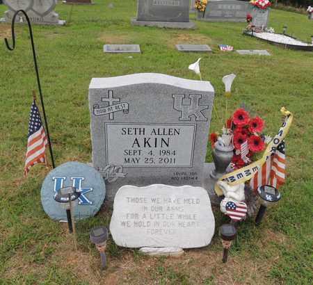 AKIN, SETH ALLEN - Adair County, Kentucky | SETH ALLEN AKIN - Kentucky Gravestone Photos