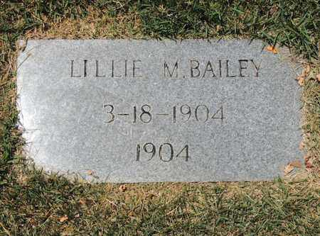 BAILEY, LILLIE M - Adair County, Kentucky | LILLIE M BAILEY - Kentucky Gravestone Photos