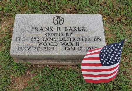 BAKER (VETERAN WWII), FRANK R - Adair County, Kentucky | FRANK R BAKER (VETERAN WWII) - Kentucky Gravestone Photos