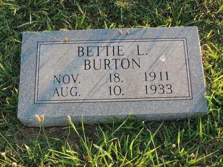 BURTON, BETTIE L - Adair County, Kentucky | BETTIE L BURTON - Kentucky Gravestone Photos