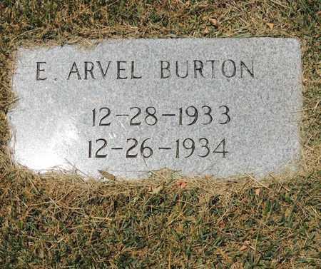BURTON, E. ARVEL - Adair County, Kentucky | E. ARVEL BURTON - Kentucky Gravestone Photos