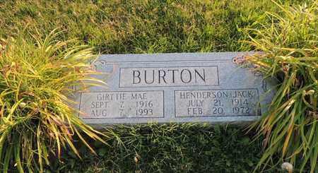 "BURTON, HENDERSON ""JACK"" - Adair County, Kentucky | HENDERSON ""JACK"" BURTON - Kentucky Gravestone Photos"