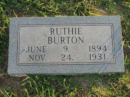 BURTON, RUTHIE - Adair County, Kentucky | RUTHIE BURTON - Kentucky Gravestone Photos