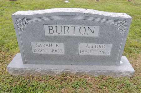 ANDERSON BURTON, SARAH B - Adair County, Kentucky   SARAH B ANDERSON BURTON - Kentucky Gravestone Photos