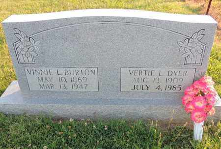 BURTON, VINNIE L - Adair County, Kentucky | VINNIE L BURTON - Kentucky Gravestone Photos
