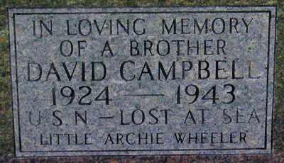 CAMPBELL (CLOSEUP), DAVID - Adair County, Kentucky | DAVID CAMPBELL (CLOSEUP) - Kentucky Gravestone Photos