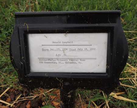 CAMPBELL, DONALD E - Adair County, Kentucky   DONALD E CAMPBELL - Kentucky Gravestone Photos