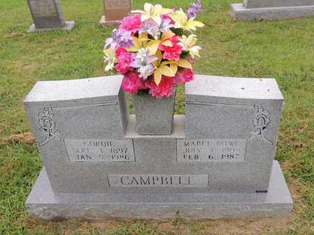 CAMPBELL, GORDIE - Adair County, Kentucky | GORDIE CAMPBELL - Kentucky Gravestone Photos