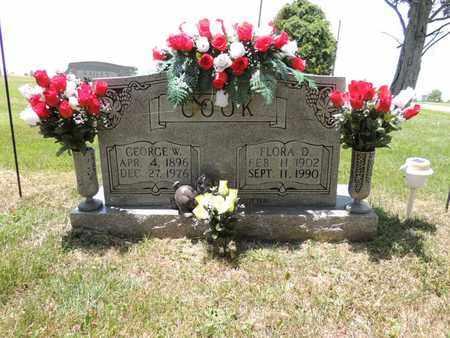 HARMON COOK, FLORA D - Adair County, Kentucky   FLORA D HARMON COOK - Kentucky Gravestone Photos