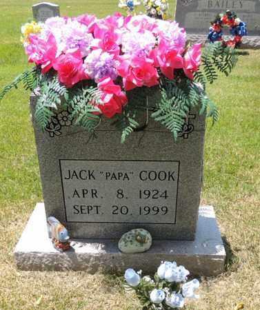 """COOK, JACK """"PAPA"""" - Adair County, Kentucky   JACK """"PAPA"""" COOK - Kentucky Gravestone Photos"""