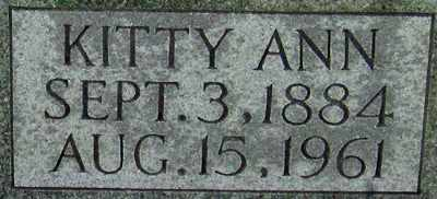 YARBERRY COOMER (CLOSE UP_, KITTY ANN - Adair County, Kentucky | KITTY ANN YARBERRY COOMER (CLOSE UP_ - Kentucky Gravestone Photos
