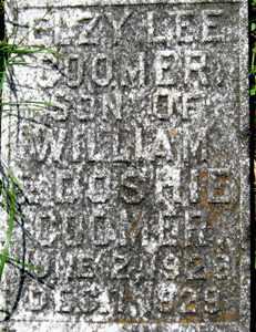 COOMER (CLOSE UP), ELZY LEE - Adair County, Kentucky | ELZY LEE COOMER (CLOSE UP) - Kentucky Gravestone Photos