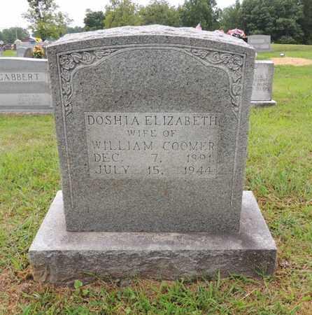 COOMER, DOSHIA ELIZABETH - Adair County, Kentucky   DOSHIA ELIZABETH COOMER - Kentucky Gravestone Photos