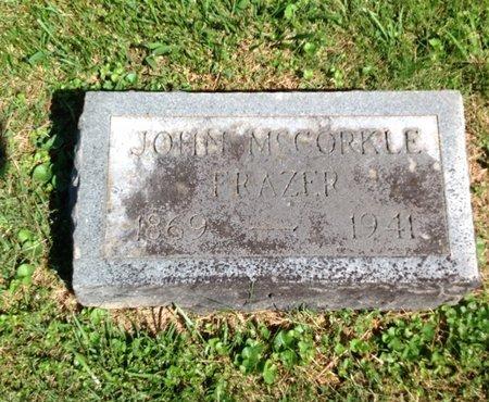 FRAZER, JOHN MCCORKLE - Adair County, Kentucky | JOHN MCCORKLE FRAZER - Kentucky Gravestone Photos