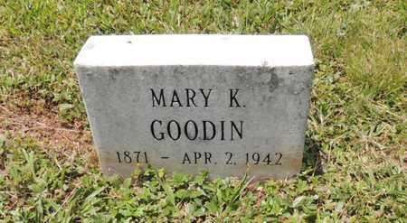 GOODIN, MARY K - Adair County, Kentucky | MARY K GOODIN - Kentucky Gravestone Photos
