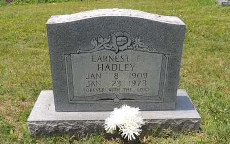 HADLEY, EARNEST F - Adair County, Kentucky   EARNEST F HADLEY - Kentucky Gravestone Photos