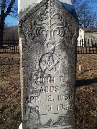 ADDS, JOHN T. - Allen County, Kentucky   JOHN T. ADDS - Kentucky Gravestone Photos