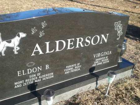 ALDERSON, ELDON B. - Allen County, Kentucky   ELDON B. ALDERSON - Kentucky Gravestone Photos