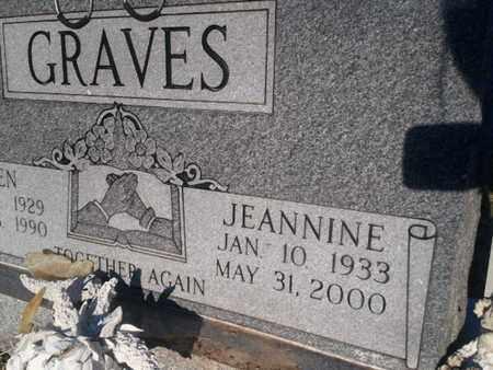 GRAVES, JEANNINE - Allen County, Kentucky | JEANNINE GRAVES - Kentucky Gravestone Photos