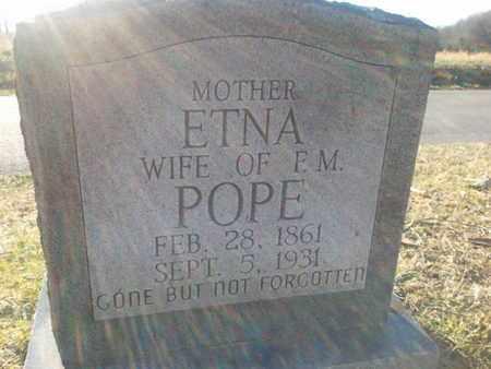 POPE, ETNA - Allen County, Kentucky | ETNA POPE - Kentucky Gravestone Photos
