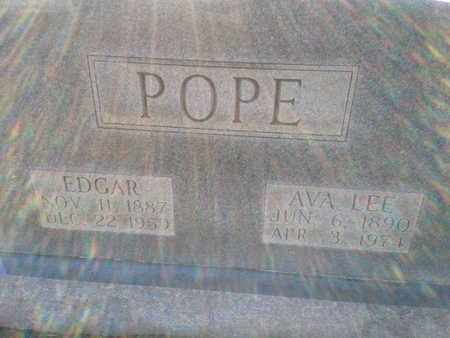 POPE, EDGAR - Allen County, Kentucky | EDGAR POPE - Kentucky Gravestone Photos