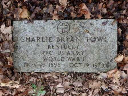 TOWE (VETERAN WWI), CHARLIE BRYAN (NEW) - Allen County, Kentucky | CHARLIE BRYAN (NEW) TOWE (VETERAN WWI) - Kentucky Gravestone Photos