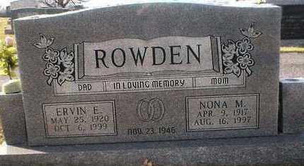ROWDEN, ERVIN - Barren County, Kentucky   ERVIN ROWDEN - Kentucky Gravestone Photos