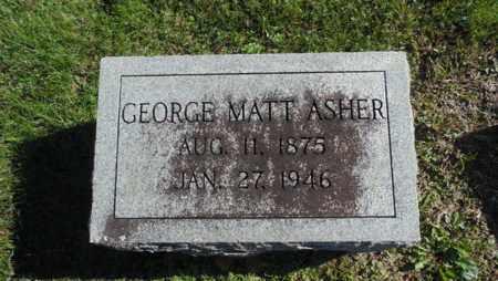 ASHER, GEORGE MATT - Bell County, Kentucky | GEORGE MATT ASHER - Kentucky Gravestone Photos
