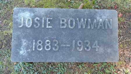BOWMAN, JOSIE - Bell County, Kentucky | JOSIE BOWMAN - Kentucky Gravestone Photos