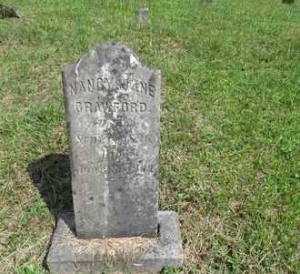 CRAWFORD, NANCY JANE - Bell County, Kentucky | NANCY JANE CRAWFORD - Kentucky Gravestone Photos
