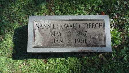 HOWARD CREECH, NANNIE - Bell County, Kentucky | NANNIE HOWARD CREECH - Kentucky Gravestone Photos