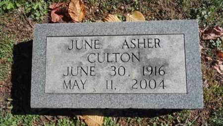 ASHER CULTON, JUNE - Bell County, Kentucky | JUNE ASHER CULTON - Kentucky Gravestone Photos