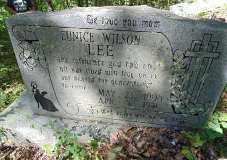 WILSON LEE, EUNICE - Bell County, Kentucky   EUNICE WILSON LEE - Kentucky Gravestone Photos