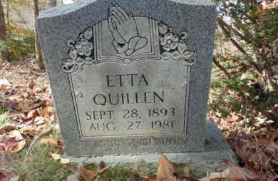 QUILLEN, ETTA - Bell County, Kentucky | ETTA QUILLEN - Kentucky Gravestone Photos