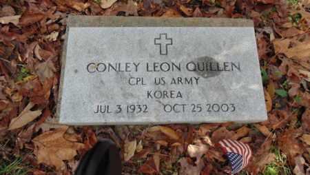 QUILLEN(VETERAN KOR), CONLEY LEON - Bell County, Kentucky | CONLEY LEON QUILLEN(VETERAN KOR) - Kentucky Gravestone Photos
