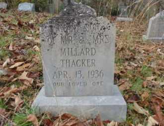 THACKER, INFANT - Bell County, Kentucky   INFANT THACKER - Kentucky Gravestone Photos