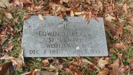 THACKER (VET WWII), EDWIN (NEW) - Bell County, Kentucky   EDWIN (NEW) THACKER (VET WWII) - Kentucky Gravestone Photos