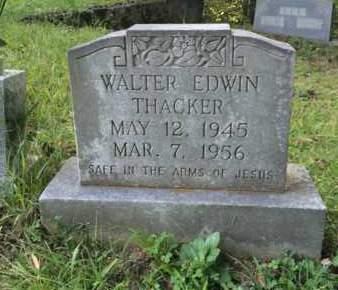THACKER, WALTER EDWIN - Bell County, Kentucky | WALTER EDWIN THACKER - Kentucky Gravestone Photos