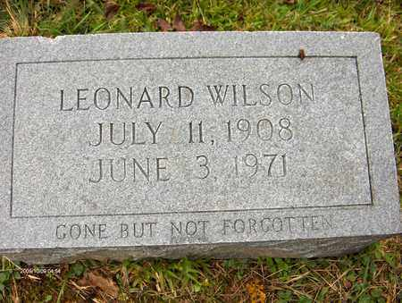 WILSON, LEONARD - Bell County, Kentucky | LEONARD WILSON - Kentucky Gravestone Photos