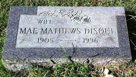 MATHEWS DISQUE, ME - Boone County, Kentucky   ME MATHEWS DISQUE - Kentucky Gravestone Photos