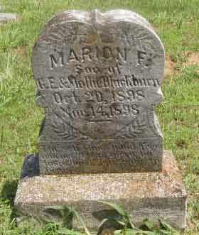 BLACKBURN, MARION F - Caldwell County, Kentucky   MARION F BLACKBURN - Kentucky Gravestone Photos