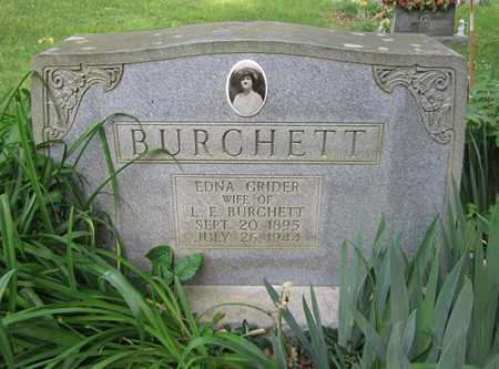 BURCHETT, EDNA - Clinton County, Kentucky | EDNA BURCHETT - Kentucky Gravestone Photos