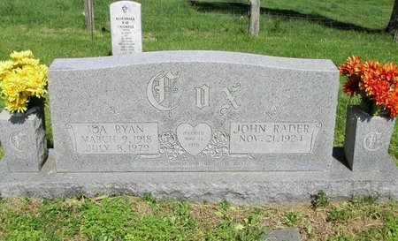 RYAN COX, IDA - Clinton County, Kentucky | IDA RYAN COX - Kentucky Gravestone Photos