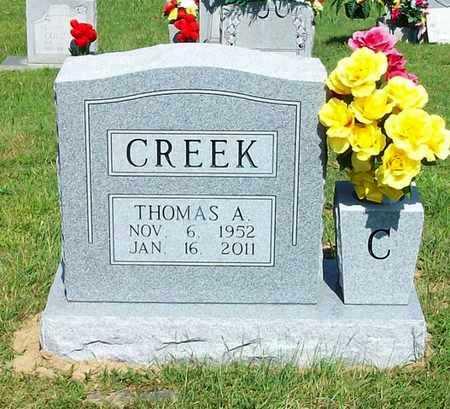 CREEK, THOMAS A - Clinton County, Kentucky | THOMAS A CREEK - Kentucky Gravestone Photos