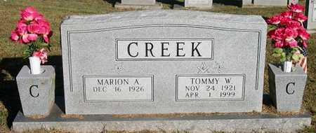 CREEK, TOMMY W - Clinton County, Kentucky | TOMMY W CREEK - Kentucky Gravestone Photos