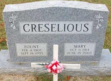 CRESELIOUS, FOUNTAIN S - Clinton County, Kentucky | FOUNTAIN S CRESELIOUS - Kentucky Gravestone Photos