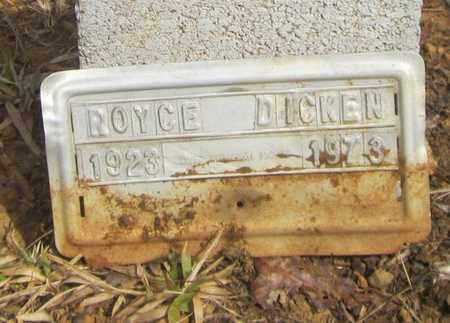 DICKEN, ROYCE - Clinton County, Kentucky | ROYCE DICKEN - Kentucky Gravestone Photos