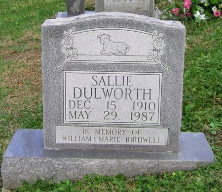 DULWORTH, SALLIE - Clinton County, Kentucky | SALLIE DULWORTH - Kentucky Gravestone Photos